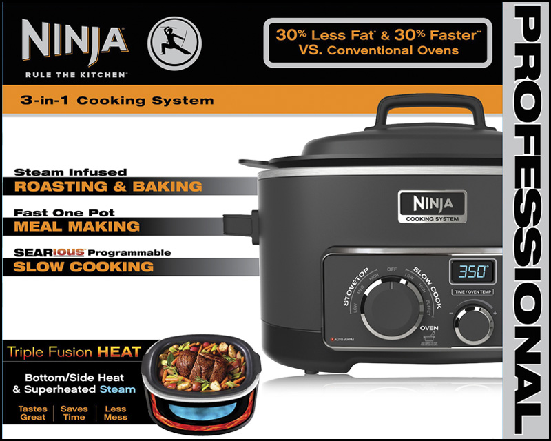 Ninja 3-In-1 (6) Quart Electric Cooking System