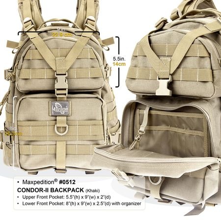 Maxpedition Condor-II Tactical Backpack Dimensions Inside
