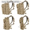 Maxpedition Falcon-II Tactical Backpack Dimensions Rear