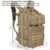 Maxpedition Falcon-II Tactical Backpack Dimensions Front Side